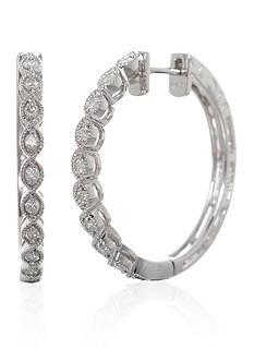 Belk & Co. 0.34 ct. t.w. Diamond Hoop Earrings in 14K White Gold