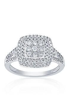 Belk & Co. 0.60 ct. t.w. Diamond Square Cluster Ring in 14K White Gold