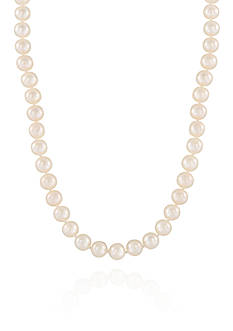 Belk & Co. Freshwater Pearl Necklace in 14k Yellow Gold