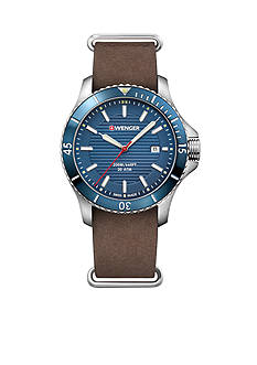 Wenger Men's SeaForce Brown Leather Watch