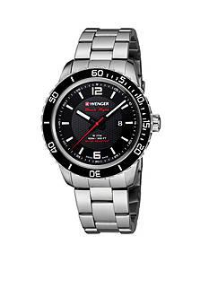 Wenger Men's Roadster Black Night Stainless Steel Swiss Watch