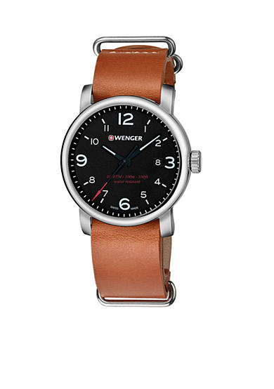 Wenger® Men's Swiss Urban Metropolitan Nato Leather Strap