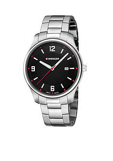 Wenger Sterling Silver Swiss City Active Black Chain