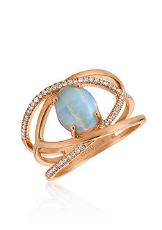 Le Vian Neopolitan Opal™ with Vanilla Diamonds® in 14k Strawberry Gold®