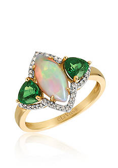 Le Vian Neopolitan Opal™ with Pistachio Diopside® and Vanilla Diamonds® Ring in 14k Honey Gold™