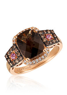 Le Vian Caramel Quartz™ with Bubblegum Pink Sapphire™, and Vanilla Diamonds®, and Chocolate Diamonds® Ring