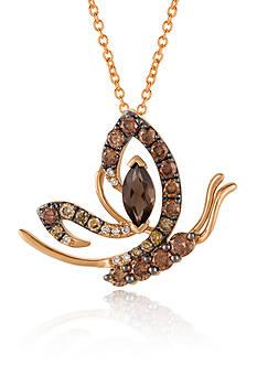 Le Vian Chocolate Quartz® and Multi Colored Diamonds in 14k Strawberry Gold®