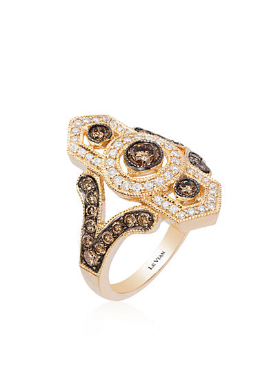 Le Vian® Chocolate Diamonds® and Vanilla Diamonds® Ring in 14K Honey Gold™