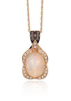 Le Vian Neopolitan Opal with Chocolate Diamonds and Vanilla Diamonds Pendant in 14K Strawberry Gold