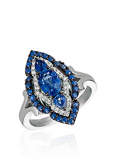 Le Vian Blueberry Sapphires™ with Vanilla Diamonds® Ring in 14k Vanilla Gold®