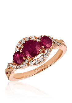 Le Vian Passion Ruby™ with Vanilla Diamonds® Ring in 14K Strawberry Gold®