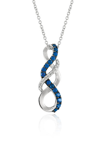 Le Vian® Blueberry Sapphires™ with Vanilla Diamonds® Pendant Necklace in 14k Vanilla Gold®