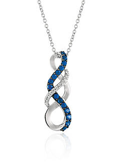 Le Vian Blueberry Sapphires™ with Vanilla Diamonds® Pendant Necklace in 14k Vanilla Gold®
