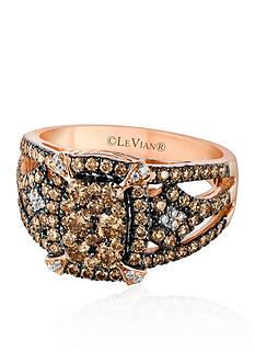 Le Vian Vanilla Diamonds® and Chocolate Diamonds® Ring in 14K Strawberry Gold®