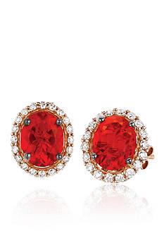 Le Vian Neon Tangerine Fire Opal with Vanilla Diamonds® Earrings in 14K Strawberry Gold®