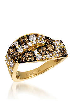 Le Vian Vanilla Diamonds® and Chocolate Diamonds® Ring in 14k Honey Gold™
