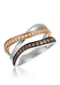 Le Vian Chocolate Diamonds® and Vanilla Diamonds® in 14K Strawberry Gold® and 14K Vanilla Gold®