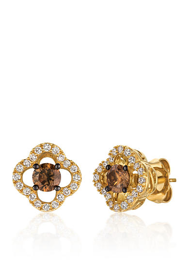 Le Vian® Chocolate Diamonds® and Vanilla Diamonds® Earrings in 14k Honey Gold™