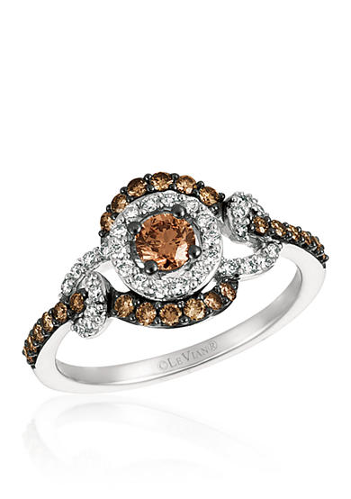Le Vian® Vanilla Diamonds® and Chocolate Diamonds® Ring in 14K Vanilla Gold®