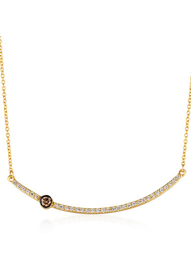 Le Vian® Vanilla Diamonds® and Chocolate Diamonds® Necklace in 14k Honey Gold™