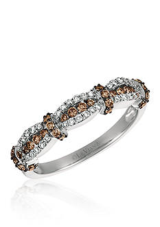 Le Vian Vanilla Diamonds® and Chocolate Diamonds® Ring in 14K Vanilla Gold®