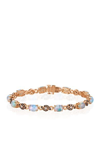 Le Vian® Neopolitan Opal™ with Vanilla Diamonds® and Chocolate Diamonds® Bracelet in 14K Strawberry Gold®