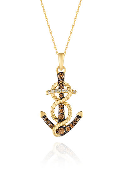 Le Vian® Vanilla Diamonds® and Chocolate Diamonds® Pendant Necklace in 14K Honey Gold™