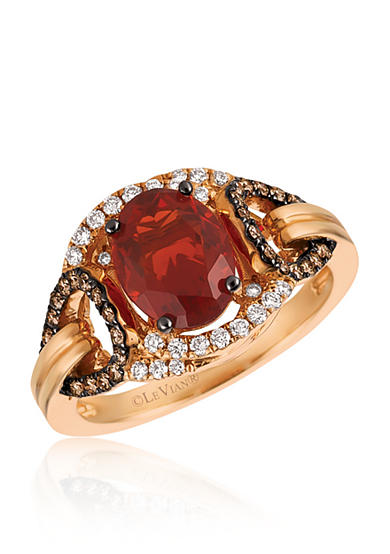 Le Vian® Neon Tangerine Fire Opal® with Vanilla Diamonds®, and  Chocolate Diamonds®  Ring in 14k Strawberry Gold®