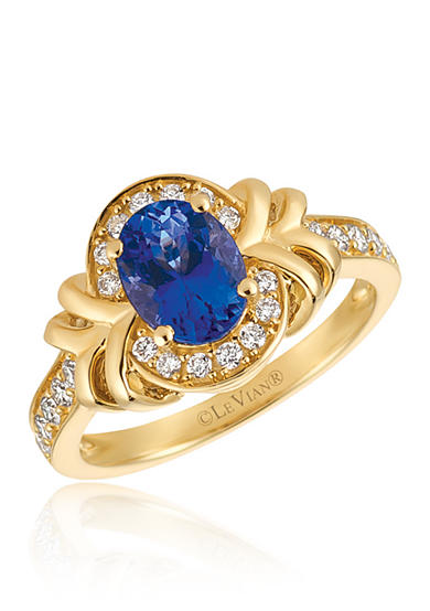 Le Vian® Blueberry Tanzanite™ with Vanilla Diamonds® Ring in 14k Honey Gold™
