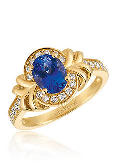 Le Vian Blueberry Tanzanite™ with Vanilla Diamonds® Ring in 14k Honey Gold™