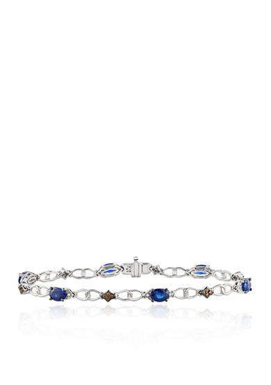 Le Vian® Blueberry Sapphires™ with Vanilla Diamonds® and Chocolate Diamonds® Bracelet in 14K Vanilla Gold®