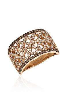 Le Vian 0.67 ct. t.w. Vanilla Diamonds® and 0.28 ct. t.w. Chocolate Diamonds® Ring in 14k Strawberry Gold®