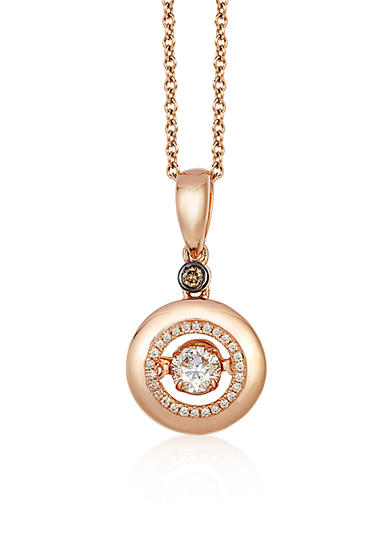 Le Vian® Vanilla Diamonds® and Chocolate Diamonds® Necklace in 14K Strawberry Gold®