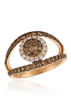 Le Vian 0.16 ct. t.w. Vanilla Diamonds® and 0.92 ct. t.w. Chocolate Diamonds® Ring in 14K Strawberry Gold®