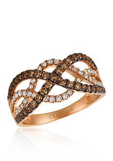 Le Vian 0.33 ct. t.w. Vanilla Diamonds® and 0.55 ct. t.w. Chocolate Diamonds® Ring in 14k Strawberry Gold®
