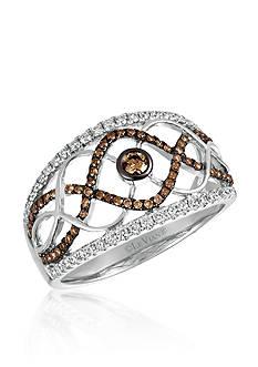 Le Vian 0.26 ct. t.w. Vanilla Diamonds® and 0.27 ct. t.w. Chocolate Diamonds® Ring in 14k Vanilla Gold®