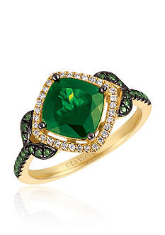 Le Vian Pistachio Diopside® with Vanilla Diamonds® and Kiwiberry Green Diamonds™ in 14k Honey Gold™