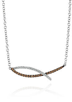 Le Vian® Vanilla Diamonds and Chocolate Diamonds Pendant in 14K Vanilla Gold