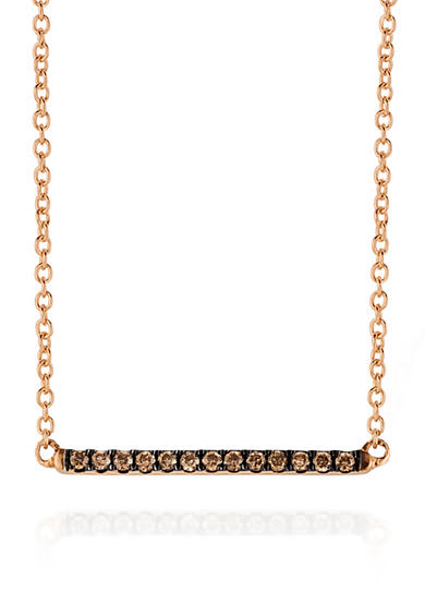 Le Vian® Chocolate Diamonds® Necklace in 14K Strawberry Gold®