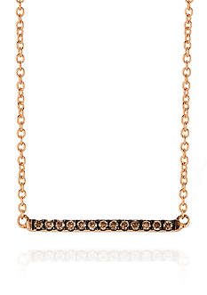 Le Vian Chocolate Diamonds® Necklace in 14K Strawberry Gold®