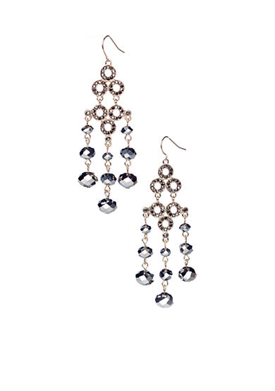R.J. Graziano Beaded Chandelier Earrings