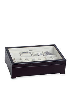 Mele & Co. Sheraton Glass Top Musical Jewelry Box