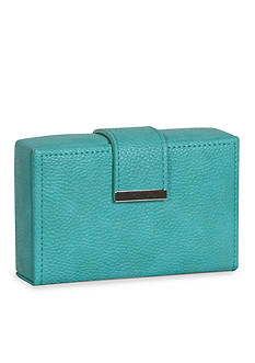 Mele & Co. Joni Travel Jewelry Case in Faux Leather and Turquoise