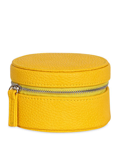 Mele & Co. Joy Faux Leather Travel Jewelry Case in Sunflower