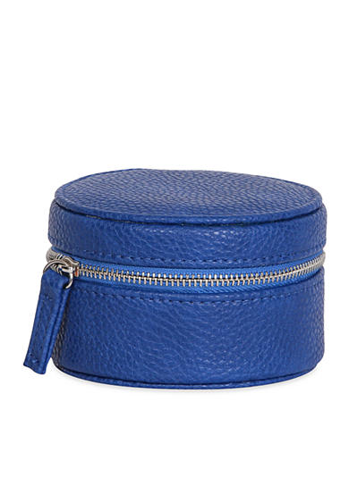 Mele & Co. Joy Faux Leather Travel Jewelry Case in Royal Blue
