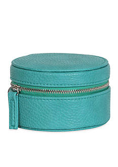 Mele & Co. Joy Faux Leather Travel Jewelry Case in Turquoise