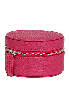 Mele & Co. Joy Faux Leather Travel Jewelry Case in Magenta