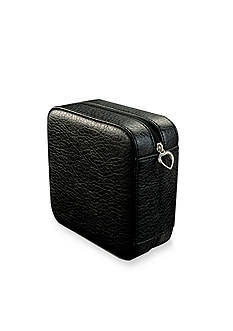 Mele & Co. Dana Faux Leather Jewelry Box in Black
