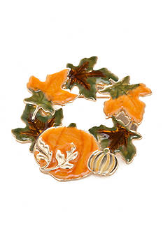 Kim Rogers Gold-Tone Harvest Wreath Leaf Pin