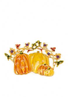 Kim Rogers Gold-Tone Pumpkin Boxed Pin